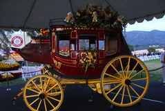 Wells Fargo Bank Horse Carriage float at the 122nd Stock Photo