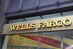 Wells Fargo Bank. In Manhattan, NEW YORK - JUNE 06: Wells Fargo branch in New York, United States America.nPhoto taken on: October 10th, 2014 Stock Image