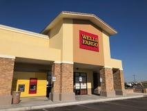 Wells Fargo Bank powierzchowność fotografia stock