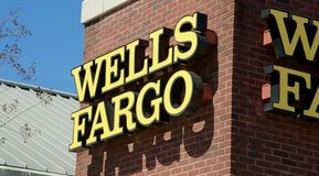 Wells Fargo Bank Sign Royalty Free Stock Photos