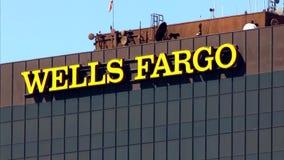Wells Fargo Bank Tower stock video