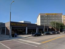 Wells Fargo Bank. Complex in downtown Sioux Falls, South Dakota stock photo