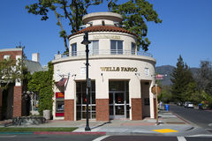 Wells Fargo Bank in Yountville Stock Photos