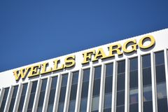 Wells Fargo Building Royalty Free Stock Photography