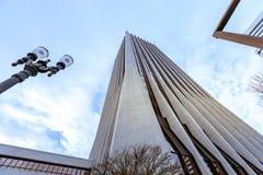 Wells Fargo Center en Portland céntrica Fotografía de archivo