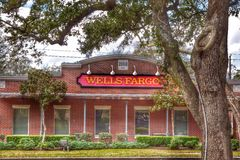 Wells fargo. Colorful nature around a wells fargo Royalty Free Stock Photography