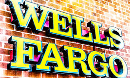 Wells Fargo Distorted Logo Lizenzfreies Stockbild