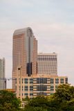 Wells Fargo-AT&T Charlotte NC Stock Photo