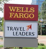 Wells Fargo Travel Leaders Center Sign Stock Photography