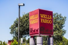 Wells- Fargologo stockfotos