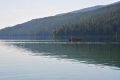 Wells grey provincial park some people on the water in Canada Stock Photo