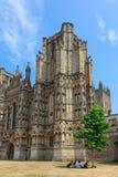 Wells-Kathedrale, Somerset lizenzfreie stockbilder