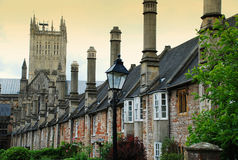Wells, Somerset, England. Wells medieval lane, Somerset, Great Britain royalty free stock photography