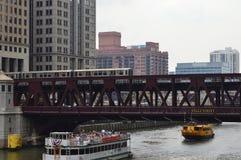 Wells Street Bridge Stock Photo