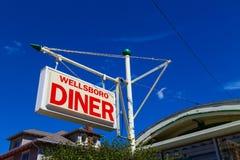 Wellsboro matställetecken Royaltyfri Bild