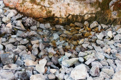 Wellspring & Stones background Stock Photography