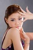 Wellustig vixen geschilderde nails2 Royalty-vrije Stock Afbeeldingen