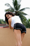 Wellustige Indische vrouwelijke krommen Stock Fotografie