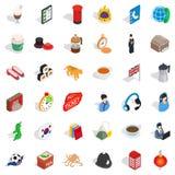 Welness icons set, isometric style. Welness icons set. Isometric style of 36 welness vector icons for web isolated on white background Royalty Free Stock Photography