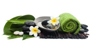Free Welness Spa Set For Healthy Therapy On White Stock Photos - 126412093