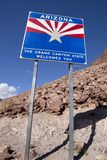 Welome to Arizona Road Sign Royalty Free Stock Images