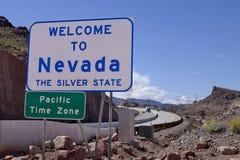 Welome zu Nevada Road Sign Lizenzfreie Stockfotografie