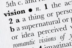 Welomlijnd het woordwoordenboek van de visie Stock Foto's