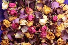 Welriekend mengsel van gedroogde bloemen en kruiden Stock Fotografie