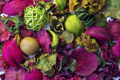 Welriekend mengsel van gedroogde bloemen en kruiden stock afbeeldingen