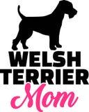 Wels Terrier-mammasilhouet Royalty-vrije Stock Afbeeldingen