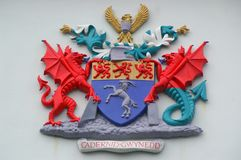 Wels Wapenschild - Gwynedd Royalty-vrije Stock Foto