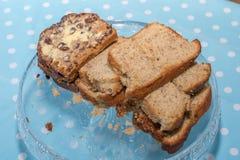 Welsh Bara Brith and Banana cake Royalty Free Stock Image