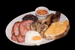 Welsh breakfast Royalty Free Stock Images