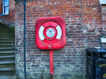 English  Bridge Lifebuoy Station Royalty Free Stock Photography