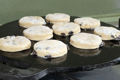 Welsh cake baking stock photography