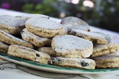 Welsh cakes cooked and ready to eat Royalty Free Stock Photo