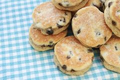 Welsh cakes stacked Royalty Free Stock Image
