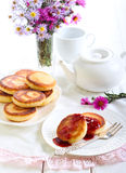 Welsh cakes with strawberry jam Stock Photography
