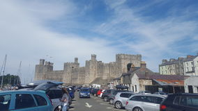 Welsh castle royalty free stock images