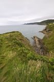 Welsh coast. And Cardigan Bay, Aberporth royalty free stock photo