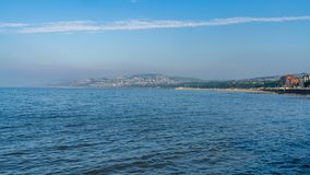 Rhos-on-Sea, Conwy, Clwyd, Wales, UK. Welsh coast in Rhos-on-Sea with Colwyn Bay in the background, Conwy, Wales, UK stock photos