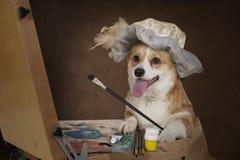 Welsh corgi Pembroke dog artist Stock Photography