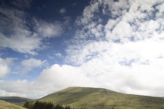Welsh countryside in the brecon beacons Royalty Free Stock Image