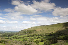 Welsh countryside in the brecon beacons Royalty Free Stock Photo