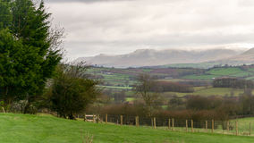 Welsh countryside and the Brecon Beacons Stock Image