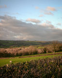 Welsh countryside. A dusk view over the farmland of the Brecon Beacons national park district in Wales stock photography