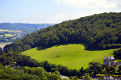Welsh countryside on the outskirts of Conwy Royalty Free Stock Image