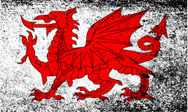 Welsh Dragon Grunge Royalty Free Stock Photography