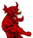 Welsh Dragon Punching Stock Photos