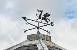Welsh Dragon - Weather Vane. Welsh Dragon on a weather vane at Llanfairpwll Royalty Free Stock Images